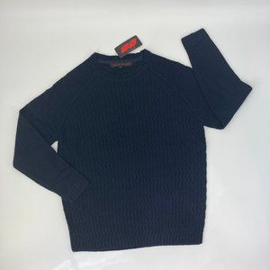 True Rock Crewneck Knit Pullover Sweater Navy Blue